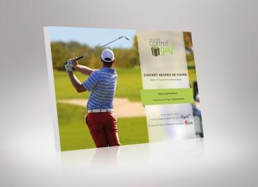 Coffret 1 heure de cours de golf